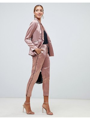 Little Mistress cigarette pants with contrast piping