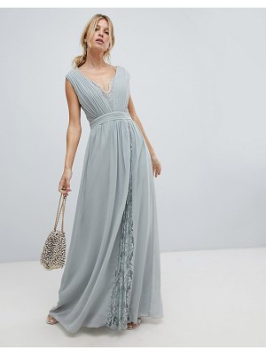 Little Mistress maxi dress with lace inserts