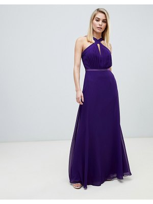 Little Mistress strappy pleated bust maxi dress