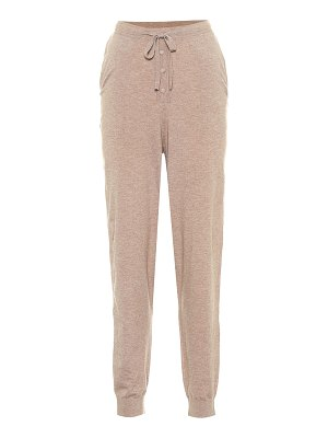 LIVE THE PROCESS cashmere and silk-blend trackpants