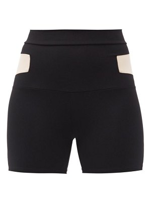 LIVE THE PROCESS cosmic panelled jersey cycling shorts