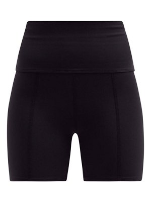 LIVE THE PROCESS geometric high-rise stretch-jersey cycling shorts