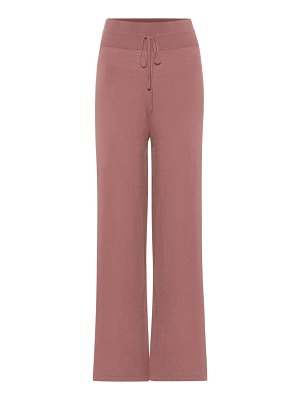 LIVE THE PROCESS knit wide-leg trackpants