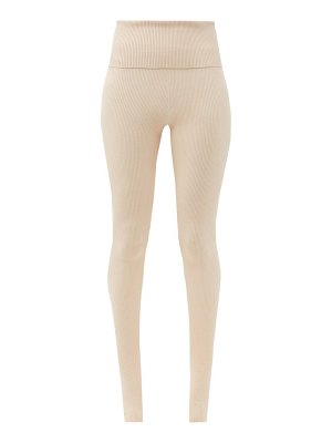 LIVE THE PROCESS seamless ballet stirrup-cuff rib-knitted leggings