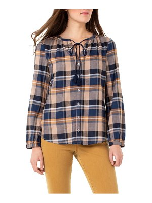 Liverpool button front peasant top