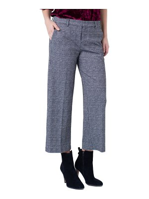Liverpool kelsey glen plaid stovepipe knit trousers