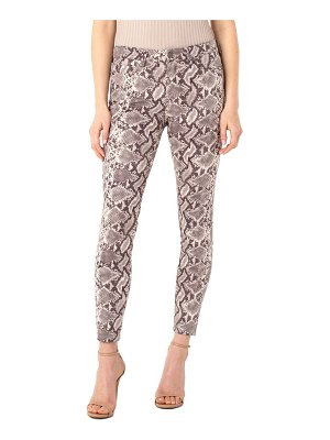 LIVERPOOL LOS ANGELES abby python print faux suede ankle skinny pants