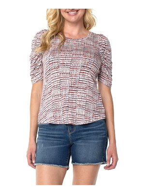 LIVERPOOL LOS ANGELES gathered sleeve top