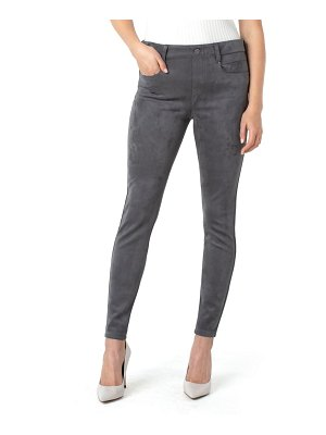 LIVERPOOL LOS ANGELES gia glider faux suede skinny pants