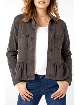 LIVERPOOL LOS ANGELES peplum cargo jacket