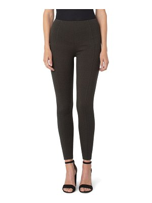 LIVERPOOL LOS ANGELES reese houndstooth seamed high waist ankle leggings