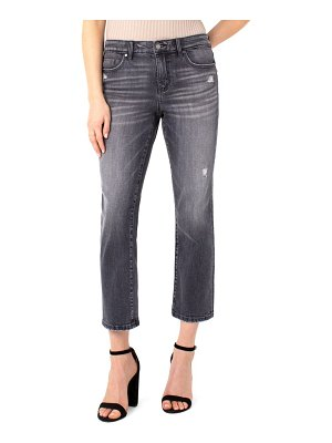 LIVERPOOL LOS ANGELES ripped straight leg crop jeans
