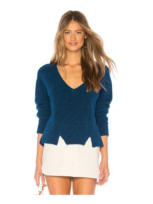 LNA Cropped V Neck Alpaca Sweater