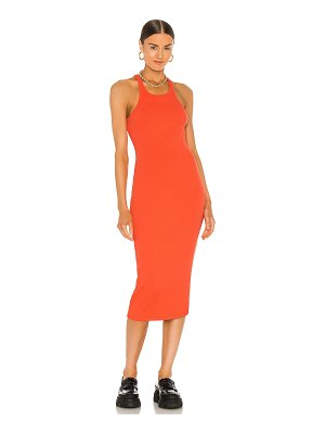 LNA skinny racer midi tank dress