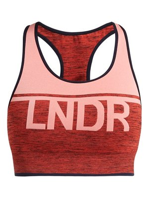 LNDR a team logo jacquard performance bra