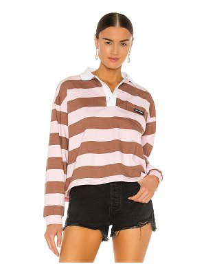 Local Heroes easy striped long sleeve polo