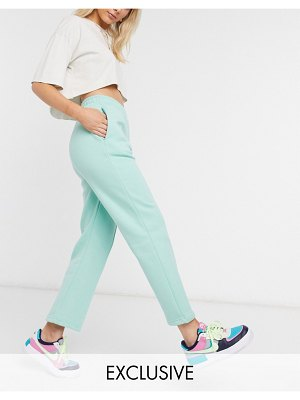 Local Heroes straight leg track pants with logo-green