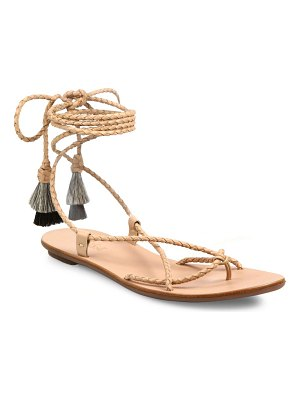 Loeffler Randall Bo Braided Leather Ankle-Wrap Sandals