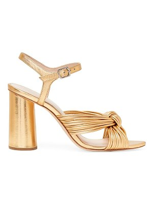 Loeffler Randall cece metallic leather knotted ankle-strap sandals
