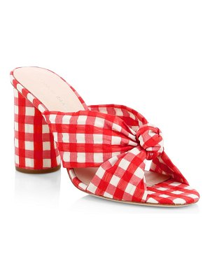 Loeffler Randall Coco Gingham Knot Mules