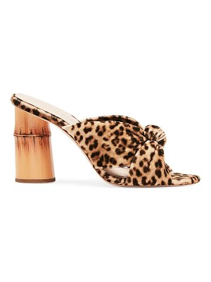 Loeffler Randall coco knotted leopard-print slides