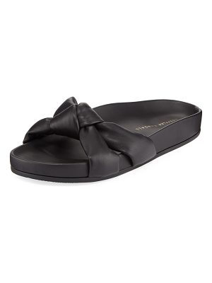 Loeffler Randall Gertie Leather Knot Pool Slide Sandal