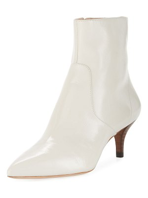 Loeffler Randall Kassidy Stretch Patent Leather Kitten-Heel Booties