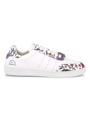 Loeffler Randall keeley provincial floral leather low-top sneakers