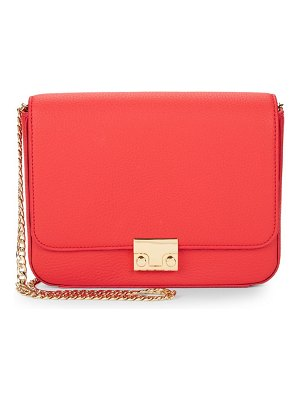 Loeffler Randall Lock Leather Shoulder Bag