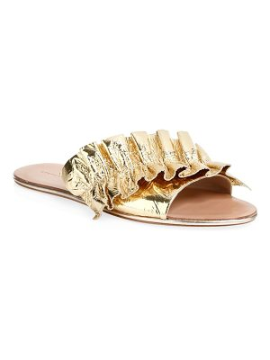 Loeffler Randall rey metallic leather slides