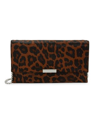 Loeffler Randall Small Leopard Calf Hair Clutch
