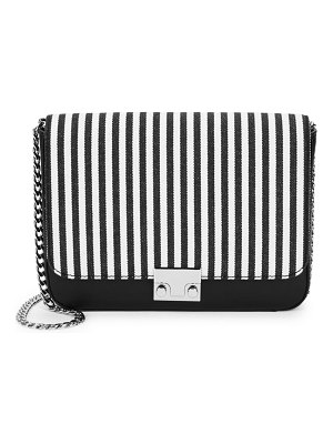 Loeffler Randall Striped Lock Shoulder Bag