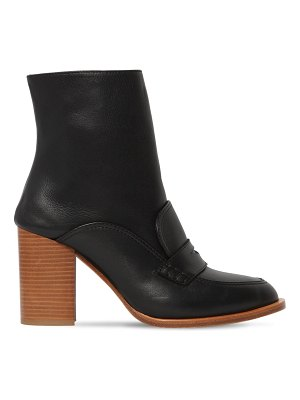 Loewe 85mm leather loafer boots
