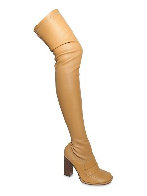 Loewe 90mm stretch leather over-the-knee boots