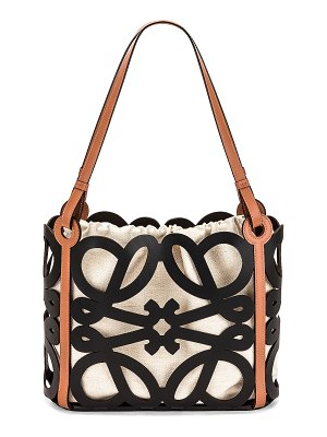 Loewe anagram cut out tote small bag