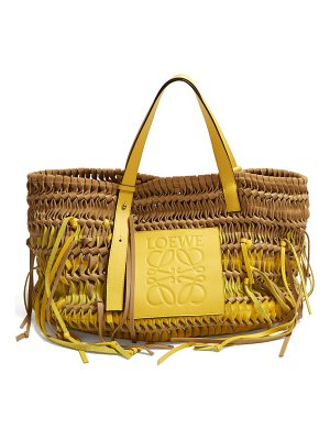 Loewe anagram woven leather tote bag