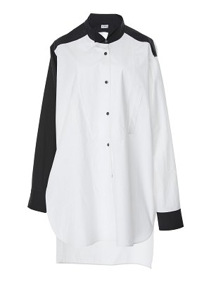 Loewe two-tone button-front cotton tunic top