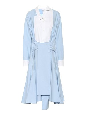 Loewe asymmetric cotton shirt dress