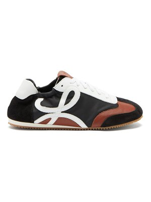 Loewe ballet runner nylon and leather trainers