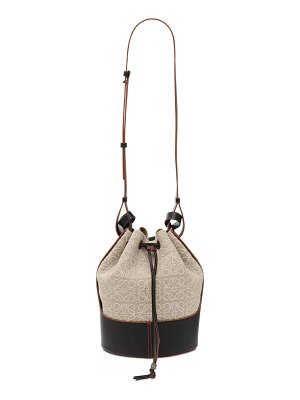 Loewe Balloon anagram linen & leather bag