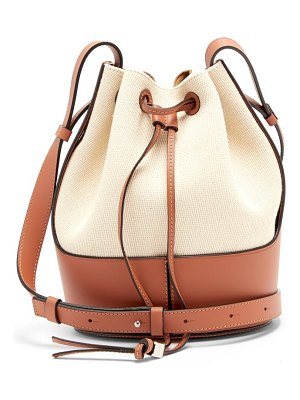 Loewe balloon small canvas and leather shoulder bag