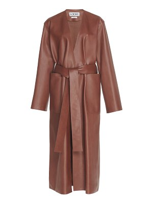 Loewe belted leather coat size: 36