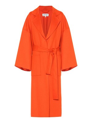 Loewe belted wool and cashmere coat