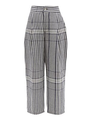 Loewe checked canvas tapered trousers