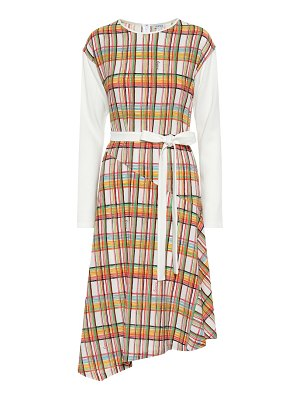 Loewe checked wool midi dress