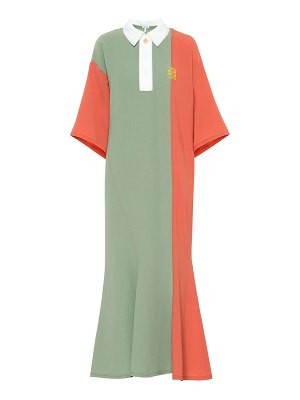 Loewe colorblocked midi dress