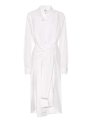 Loewe cotton-blend shirt dress