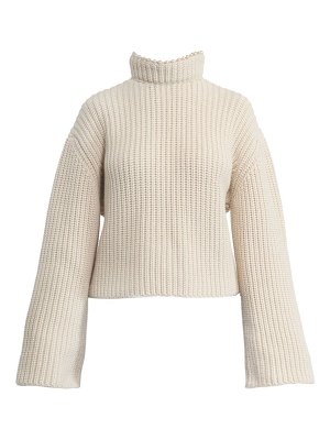 Loewe cropped cashmere embellished open-back sweater