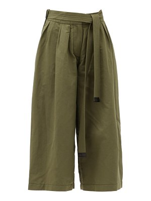 Loewe cropped cotton-blend wide-leg trousers