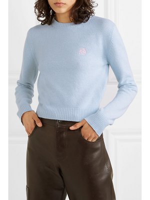 Loewe cropped embroidered wool sweater